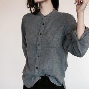 + U N I Q L O + Mandarin Flannel